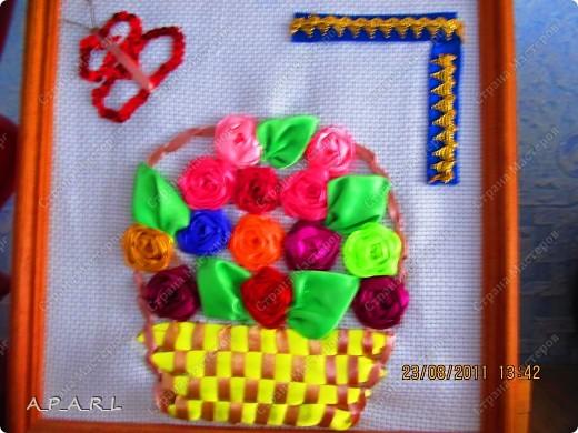 Цветы из ленточек( 2 картины) фото 2