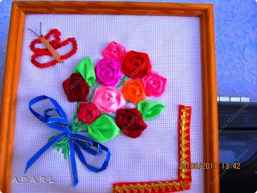 Цветы из ленточек( 2 картины) фото 3