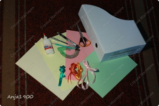 Хочу предложить вашему вниманию мини МК по декору обычных картонных папок для журналов из Икеи! фото 2