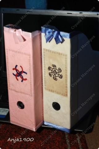 Хочу предложить вашему вниманию мини МК по декору обычных картонных папок для журналов из Икеи! фото 13