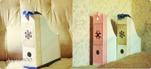 Хочу предложить вашему вниманию мини МК по декору обычных картонных папок для журналов из Икеи! фото 1