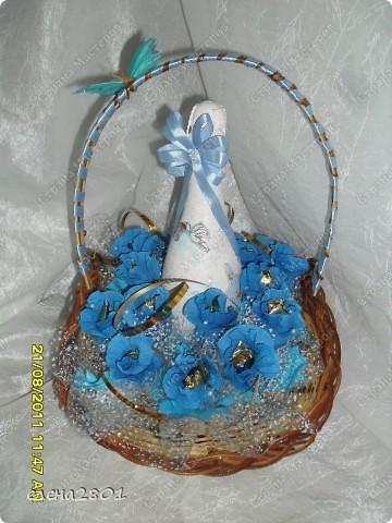 У нас 28 августа,племянница мужа родила сына. и вот такую корзину я приготовила на выписку из роддома. фото 1