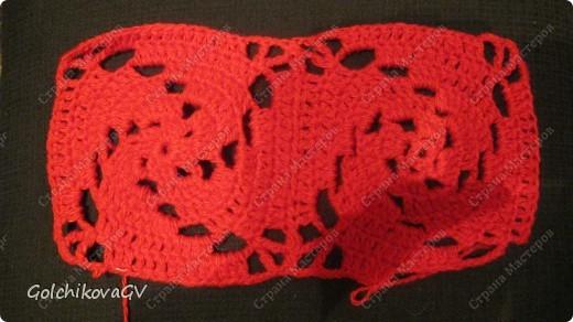 Вот и я закончила свой шарф. Мне,как всегда,  хочется чего-то своего, вот и намудрила. фото 4
