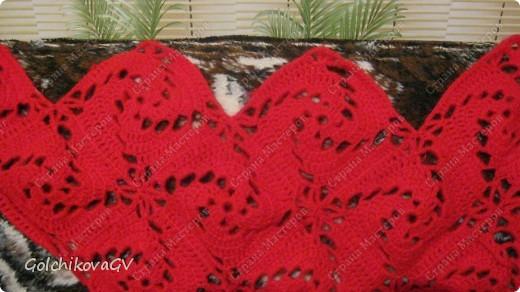 Вот и я закончила свой шарф. Мне,как всегда,  хочется чего-то своего, вот и намудрила. фото 18