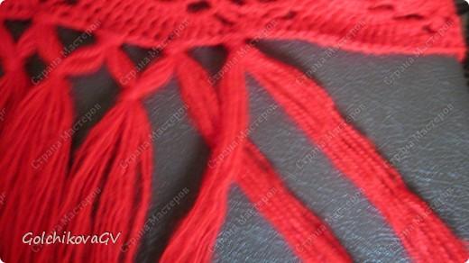 Вот и я закончила свой шарф. Мне,как всегда,  хочется чего-то своего, вот и намудрила. фото 22