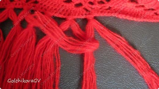 Вот и я закончила свой шарф. Мне,как всегда,  хочется чего-то своего, вот и намудрила. фото 23