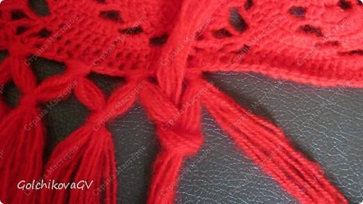 Вот и я закончила свой шарф. Мне,как всегда,  хочется чего-то своего, вот и намудрила. фото 24