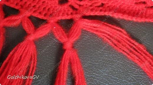 Вот и я закончила свой шарф. Мне,как всегда,  хочется чего-то своего, вот и намудрила. фото 26