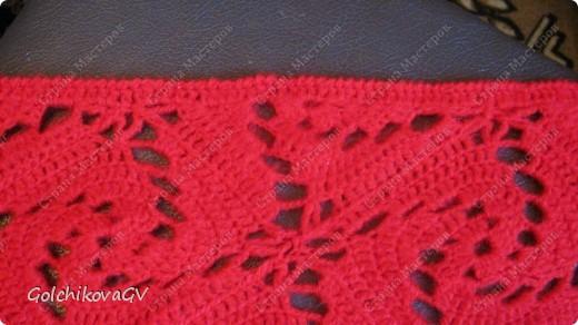 Вот и я закончила свой шарф. Мне,как всегда,  хочется чего-то своего, вот и намудрила. фото 21
