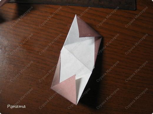 Всем привет! С разрешения Марии Синайской выкладываю свой туториал на эту кусудаму.  Схема автора здесь - http://goorigami.com/diagrams/chandelle-kusudama. фото 13