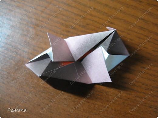 Всем привет! С разрешения Марии Синайской выкладываю свой туториал на эту кусудаму.  Схема автора здесь - http://goorigami.com/diagrams/chandelle-kusudama. фото 14