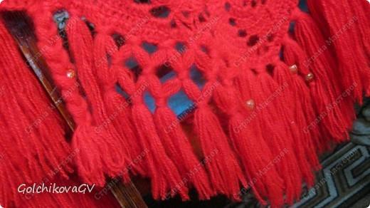 Вот и я закончила свой шарф. Мне,как всегда,  хочется чего-то своего, вот и намудрила. фото 27