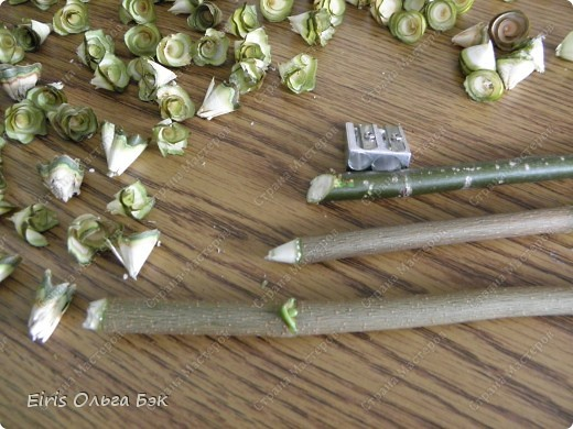 Мастер-класс Моделирование конструирование Деревянные розочки и как я их использовала 1 часть - Осенний венок МК Дерево Материал природный Стружка фото 3