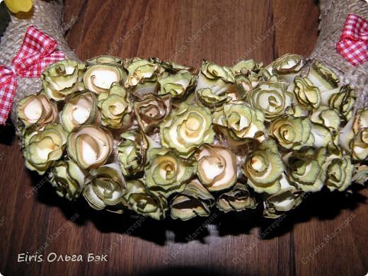 """Это крупным планом """"деревянные розочки"""". Увидела их в интернете http://marrietta.ru/post173717111/ и влюбилась с первого раза... Естественно не претендую на ПЕРВООТКРЫВАТЕЛЬСТВО, но решила выложить фото и комментарии к ним. фото 4"""