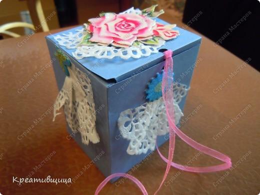 подарочная коробочка из бумаги для пастели фото 1