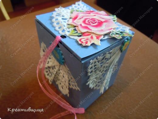 подарочная коробочка из бумаги для пастели фото 2