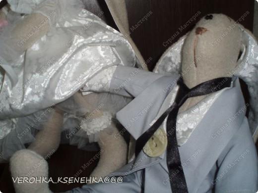 Ну, вот и снова зайки. Эти зайки были сшиты на заказ к 1й годовщине свадьбы. фото 6