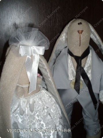 Ну, вот и снова зайки. Эти зайки были сшиты на заказ к 1й годовщине свадьбы. фото 5