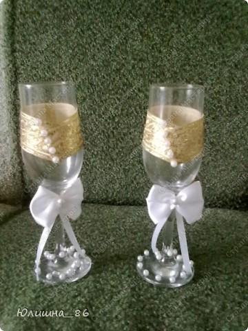 практически полный набор свадебных мелочей. решила делать все в бело-золтой гамме.каждый аксессуар является дебютом, все делала  впервые))) фото 6