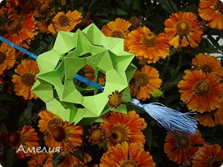 "Еще одни цветочки из книги  Livro de Origami Основа кусудама ""Электра"" автор Девид Митчел http://diagramascia.blogspot.com/search/label/Electra http://www.youtube.com/watch?v=_C0TMbyP_No http://kusuda.ru/kusudamas/kusudama-elektra/ фото 27"