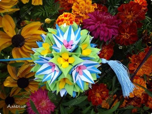 "Еще одни цветочки из книги  Livro de Origami Основа кусудама ""Электра"" автор Девид Митчел http://diagramascia.blogspot.com/search/label/Electra http://www.youtube.com/watch?v=_C0TMbyP_No http://kusuda.ru/kusudamas/kusudama-elektra/ фото 33"