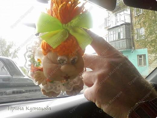 подарила мужу куклу на удачу))).Кукляшка махонькая,всего 7см)) фото 2