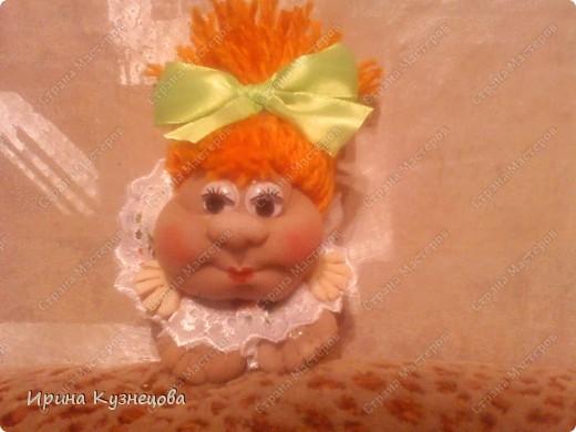 подарила мужу куклу на удачу))).Кукляшка махонькая,всего 7см)) фото 1