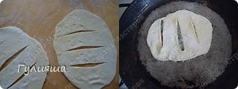 Вот на днях приготовила кыстыбый для своей семьи. Оно очень вкусное и сытное. И готовится быстро. Нам понадобятся: тесто, картофельное пюре, репч.лук и масло слив.для смазки  Для начинки приготовить картофельное пюре, добавить в него горячее молоко, растопленное масло, пассерованный репчатый лук и все перемешать.    фото 12