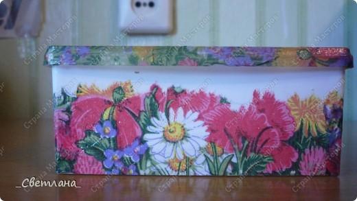 Коробочка для ватных палочек. фото 1