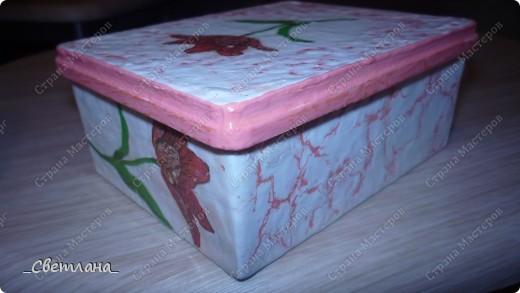 Коробочка для ватных палочек. фото 2