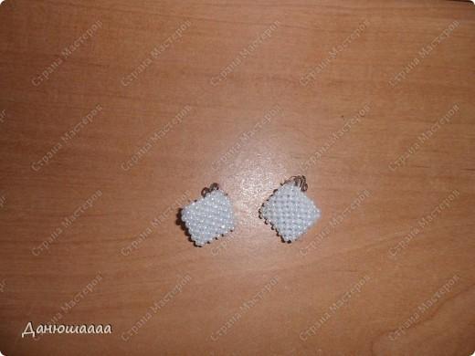 Украшение Бисероплетение Серёжки клипсы объёмные из бисера МК Бисер фото 1.
