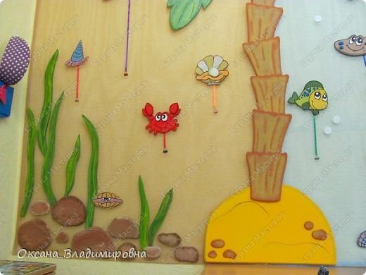 Оформляем приемную в детском саду.  Стена для детских рисунков.  фото 10