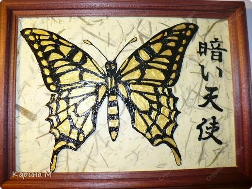 Вот все картинки в сборе) Рисовала контурами по стеклу Decola и Hobby Line, фон бамбуковая бумага. фото 4