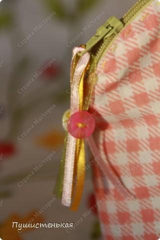 Ткань бязь и х/б. Цветы- флис, пуговицы, мулине. высота 15см. ширина 18см. фото 2