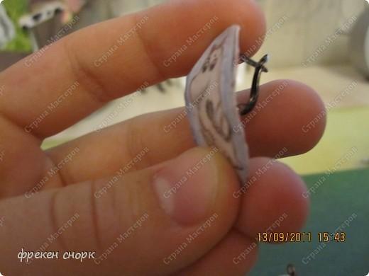 сережки с муми-троллями фото 2
