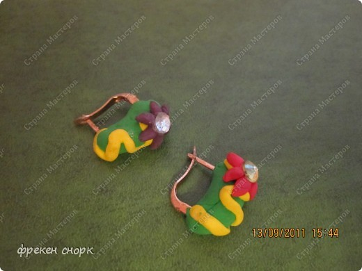 сережки с муми-троллями фото 3