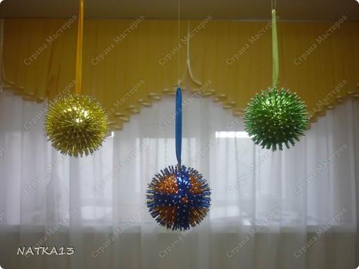 вот и я сделала шары на новый год