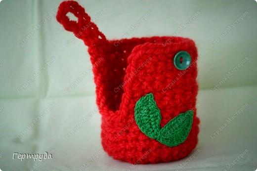 Забавный и несложный подарок. Материал: теплые нитки :) Инструмент: крючок. фото 2