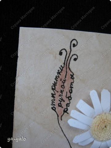 """Эту визитку сделала для участия в заданиии челендж-блога """"Little fun"""", посвященного малым формам скрапбукинга. http://littlefun-by-d.blogspot.com/.  Делаю это в первый раз, поэтому визитка - форма символичная. Знакомлюсь)))) фото 4"""