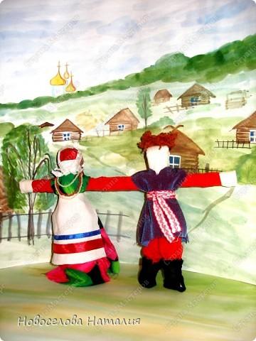 Этих кукол я выполняла вместе дочерью Анастасией. Мы попытались в этой работе воплотить народный костюм новооскольского района. фото 4