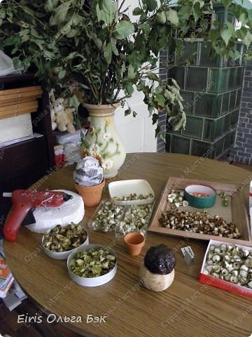 """Теперь хочется написать- НАШИ  любимые """"деревянные розочки"""".Использовала веточки ивы, рябины, яблони, березы, клена, липы.  фото 4"""