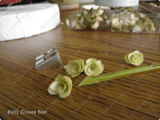 """Теперь хочется написать- НАШИ  любимые """"деревянные розочки"""".Использовала веточки ивы, рябины, яблони, березы, клена, липы.  фото 6"""