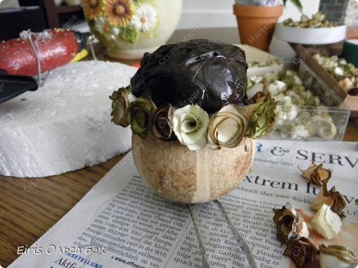 """Теперь хочется написать- НАШИ  любимые """"деревянные розочки"""".Использовала веточки ивы, рябины, яблони, березы, клена, липы.  фото 5"""