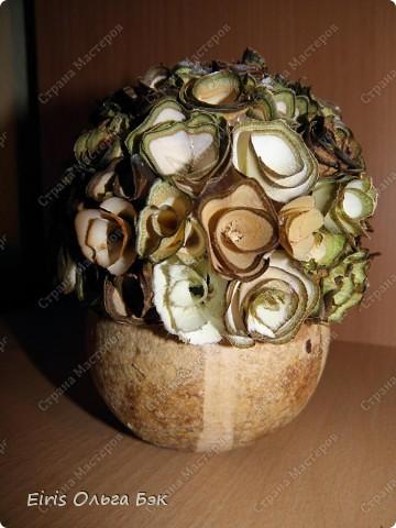 """Теперь хочется написать- НАШИ  любимые """"деревянные розочки"""".Использовала веточки ивы, рябины, яблони, березы, клена, липы.  фото 9"""