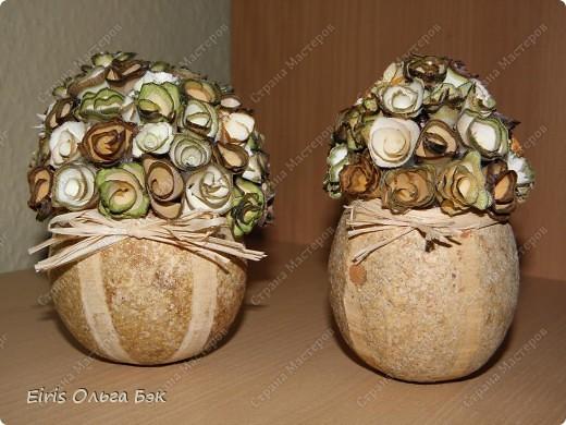 """Теперь хочется написать- НАШИ  любимые """"деревянные розочки"""".Использовала веточки ивы, рябины, яблони, березы, клена, липы.  фото 1"""