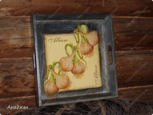 """Набор """"Лимонное наслаждение"""" Основа дерево и стекло. Салфетка. Акриловые краски. Пастель. Фисташковый лак. фото 9"""