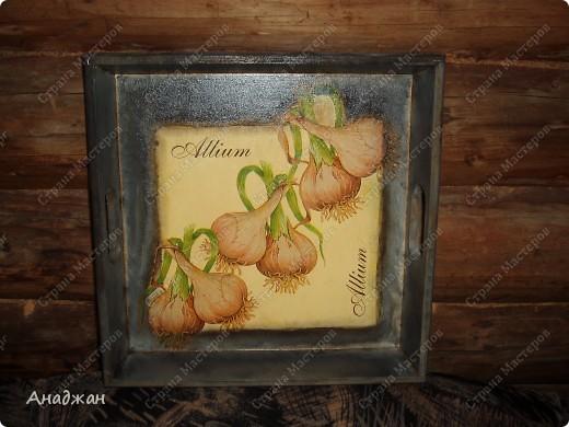 """Набор """"Лимонное наслаждение"""" Основа дерево и стекло. Салфетка. Акриловые краски. Пастель. Фисташковый лак. фото 8"""