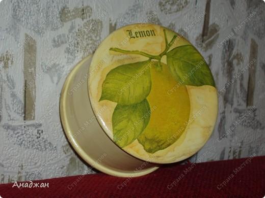 """Набор """"Лимонное наслаждение"""" Основа дерево и стекло. Салфетка. Акриловые краски. Пастель. Фисташковый лак. фото 4"""