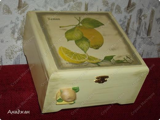"""Набор """"Лимонное наслаждение"""" Основа дерево и стекло. Салфетка. Акриловые краски. Пастель. Фисташковый лак. фото 6"""