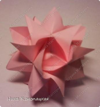 Всем привет! Давно я не показывала свои работы в СМ /ведь неделю это давно? Да?/. Так, что сегодня покажу! Времени было много, но собрались только две кусудамки и колечко. Name: Tea Rose Designer: Isa Klein Parts: 12 Paper: 6 cm Joint: glue Схема и оригинал тут:  http://diagramascia.blogspot.com/2011/06/hora-de-dobrar.html Вдохновение: http://stranamasterov.ru/node/241507?c=favusers, http://stranamasterov.ru/node/229131, http://www.flickr.com/photos/51642560@N02/5793453552/   фото 1